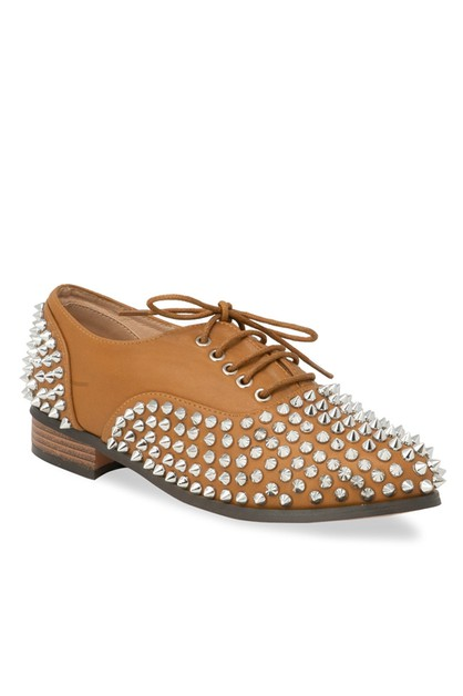 Studded Pointed Casual Shoes - orangeshine.com