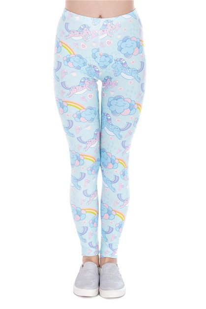 UNICORN CLOUD Digital Print Leggings - orangeshine.com