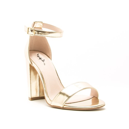 Qupid Women Single Band Heel Sandals - orangeshine.com