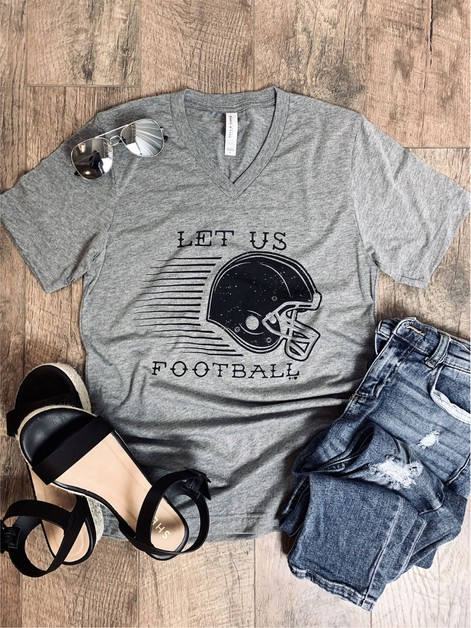 Let us Football Graphic Tee - orangeshine.com