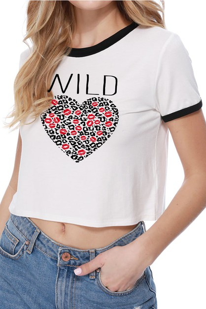 Wild Graphic Crop Top - orangeshine.com