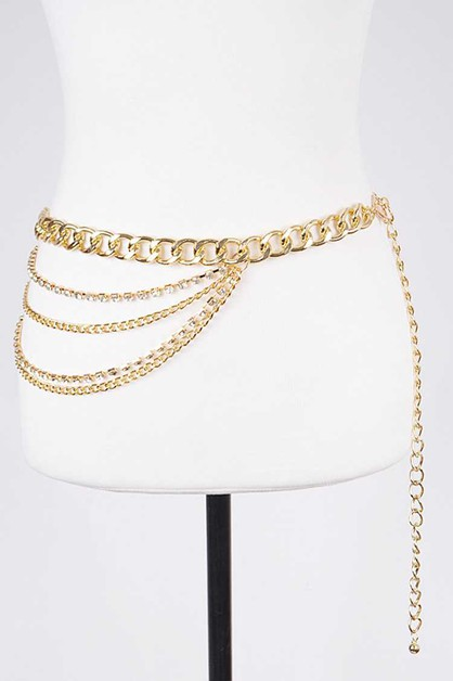 Crystal Accent Iconic Layer Chain Be - orangeshine.com