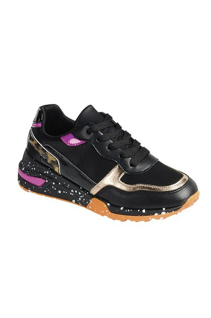 SEQUIN lace up  Casual sports shoes - orangeshine.com