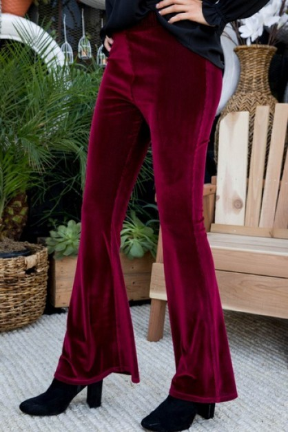 High Wasit Corduroy Wide Leg Pants - orangeshine.com