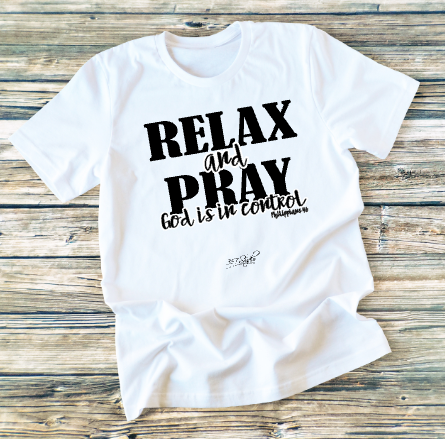 GRAPHIC TEE - Relax and Pray - orangeshine.com