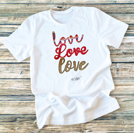 GRAPHIC TEE - Love Love Love - orangeshine.com