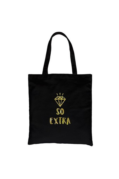 So Extra Gold Vinyl Canvas Bag - orangeshine.com