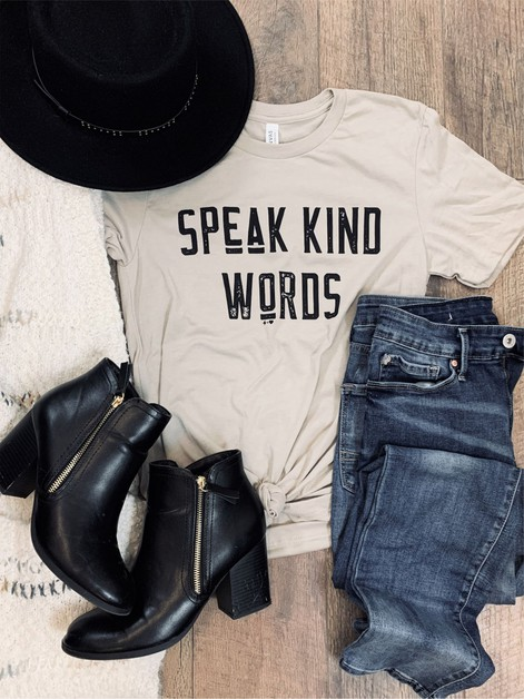Speak Kind Words - orangeshine.com