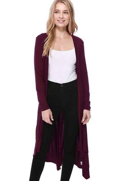 Long Maxi Length Duster Cardigan - orangeshine.com