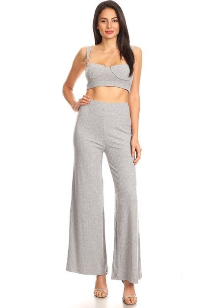 Loose Fit Bell Bottom Two Piece Set - orangeshine.com