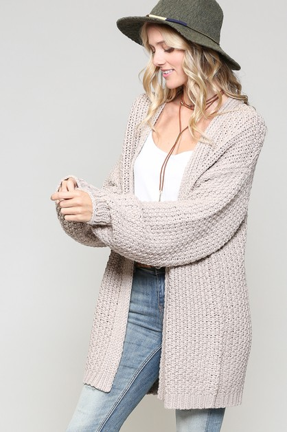 CHUNKY AND CLOUCHY SWEATER CARDIGAN - orangeshine.com