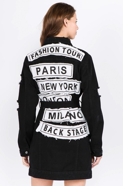 DENIM FASHION TOUR LONG JACKET - orangeshine.com