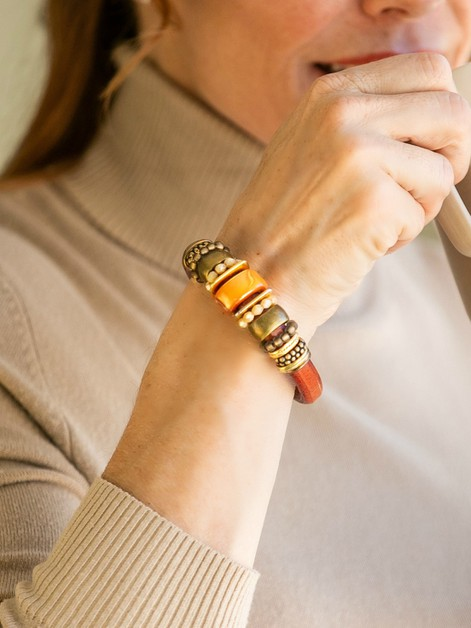 Russet Brown Leather Bracelet - orangeshine.com
