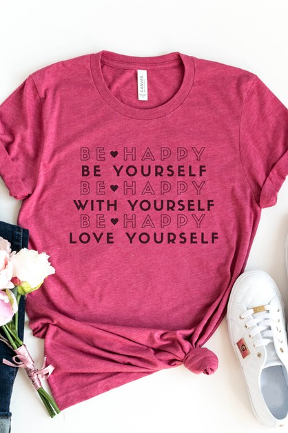 Be Happy Be Yourself Love Yourself  - orangeshine.com