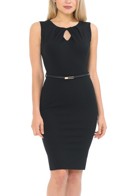 Women Sleeveless Body Con Dress  - orangeshine.com