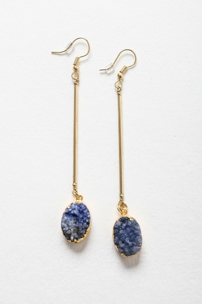 Crystal Gemstone Drop Earring - orangeshine.com
