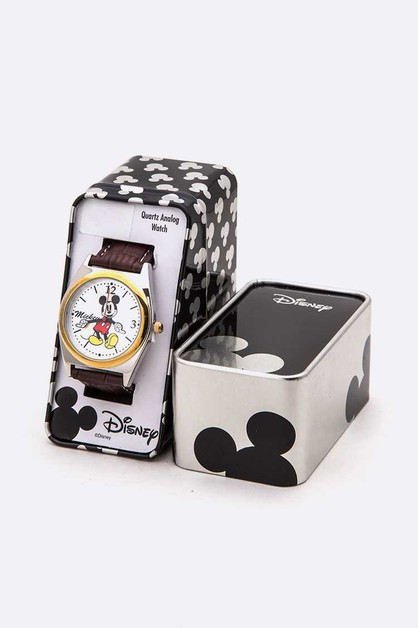 Disney Mickey Mouse Watch Tin Box Se - orangeshine.com