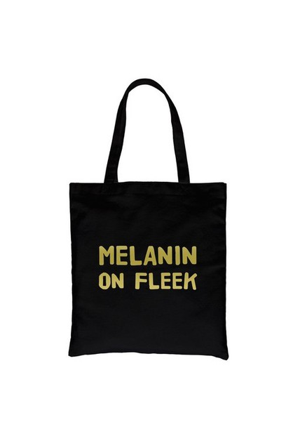 Melanin On Fleek Gold Canvas Bag - orangeshine.com