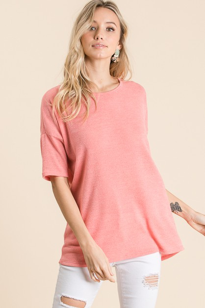SOFT JERSEY KNIT TUNIC - orangeshine.com
