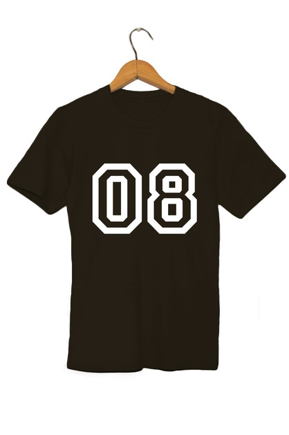 08 NUMBER PRINT GRAPHIC TEE - orangeshine.com
