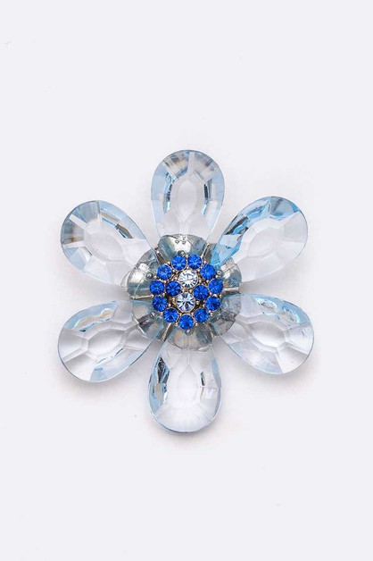 Crystal Flower Iconic Brooch - orangeshine.com