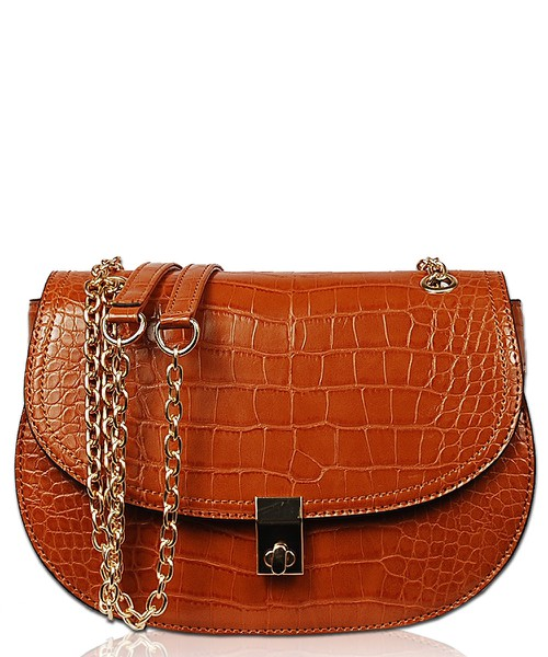 Crossbody Bag With Metal Chain - orangeshine.com