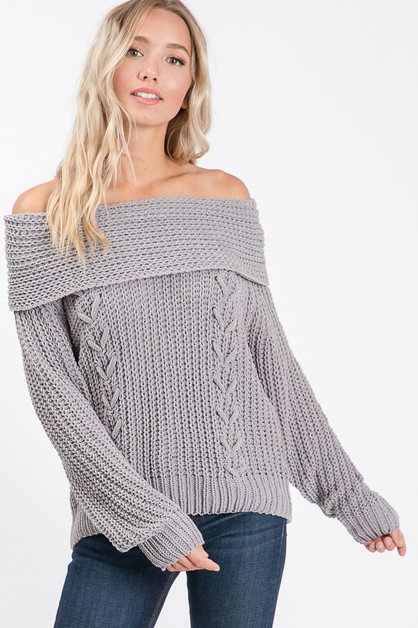 SOLID OFF SHOULDER AND TURTLE NECK S - orangeshine.com
