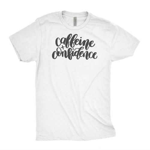 COFFEE AND CONFIDENCE TEE - orangeshine.com