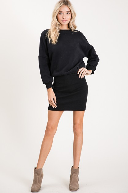 LONG SLEEVE WITH MIDI DRESS - orangeshine.com