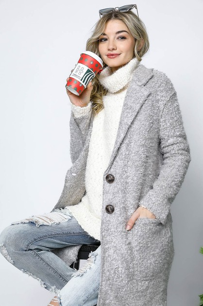 MARLED KNIT OVERIZED JACKET COAT - orangeshine.com
