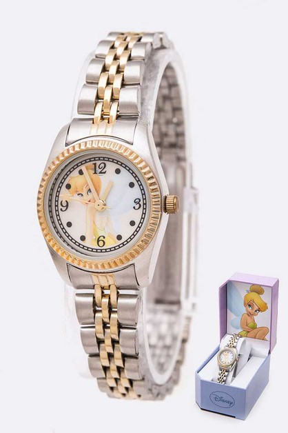 Tinker Bell Disney 2 Tone Watch Gift - orangeshine.com