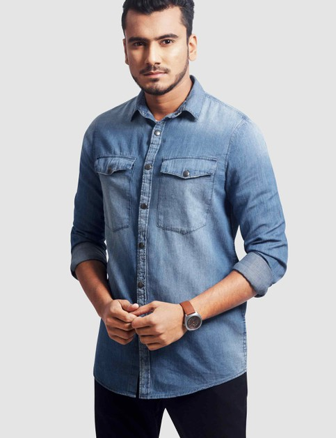 Mens Denim Shirt - orangeshine.com
