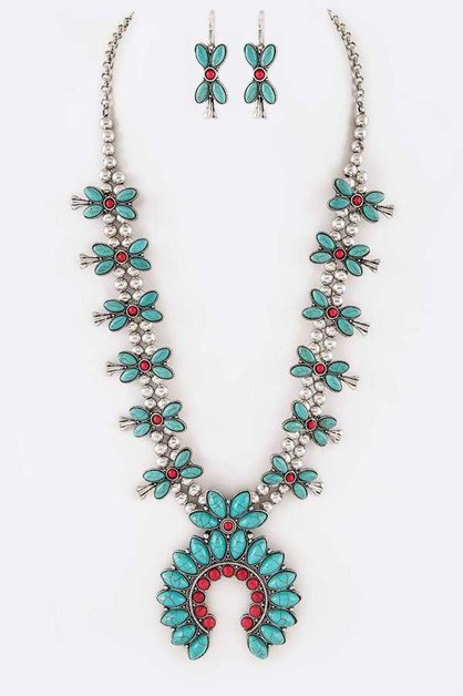 Squash Blossom Statement Necklace Se - orangeshine.com