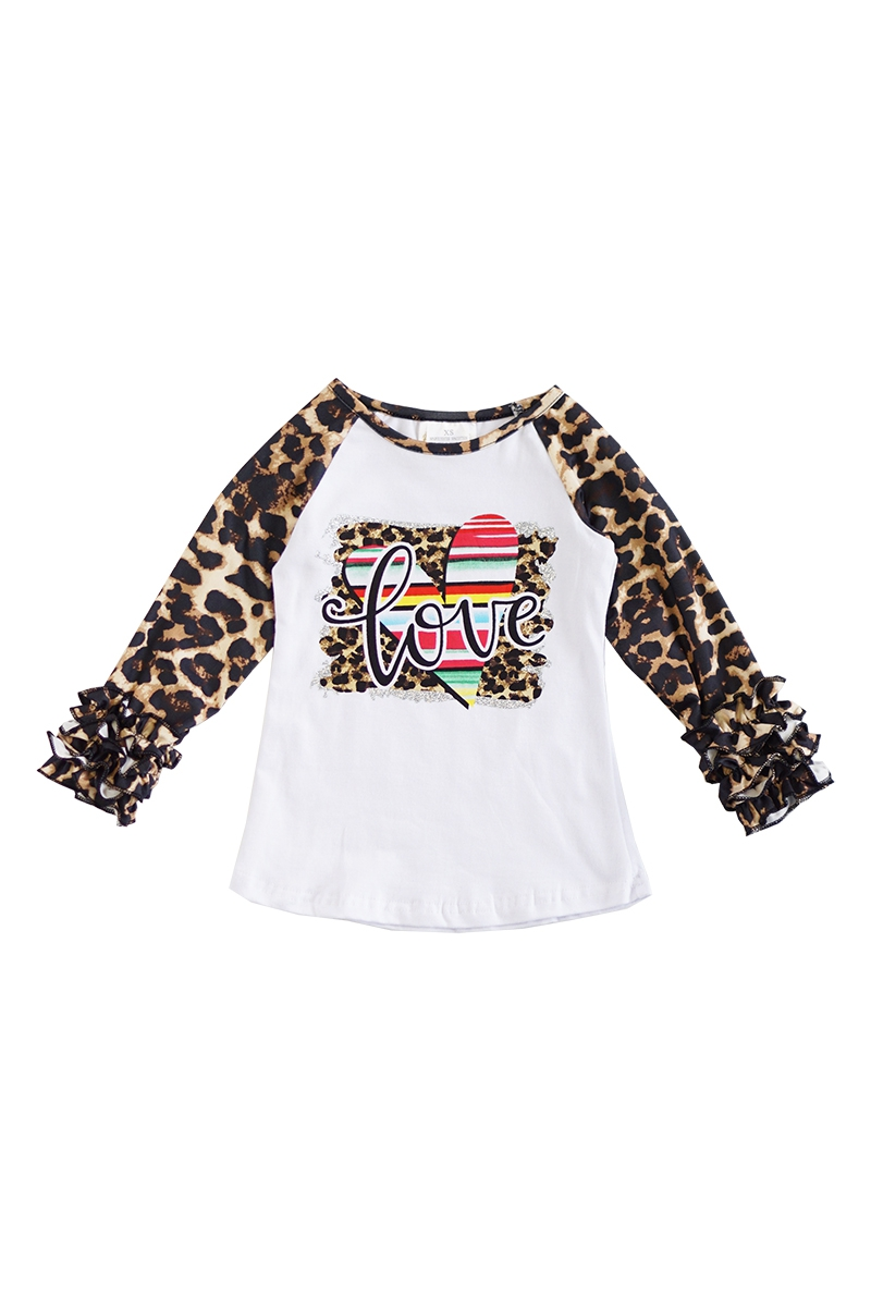 Love cheetah icing sleeve raglan - orangeshine.com