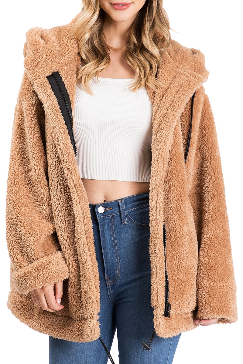 Alpine Oversized Teddy Jacket - orangeshine.com