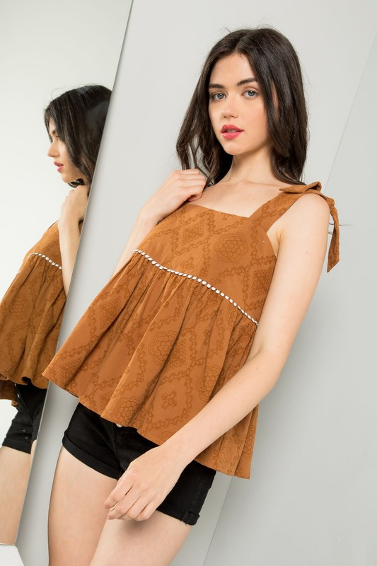 Jacquard top - orangeshine.com