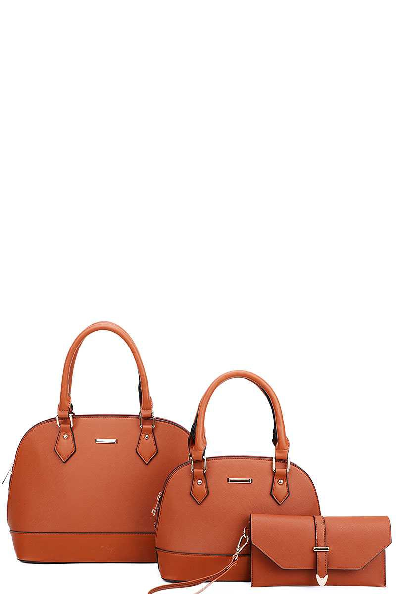 3IN1 2 DOMED SATCHEL BAGS AND CLUTCH - orangeshine.com