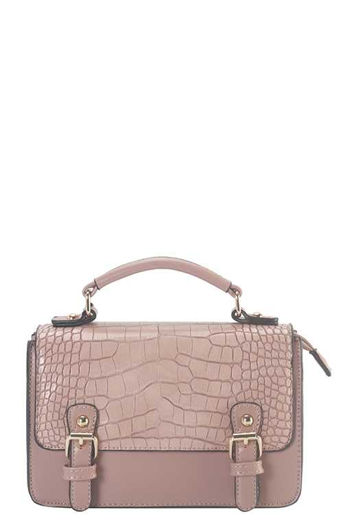 CROCO PTTRN SATCHEL BAG - orangeshine.com