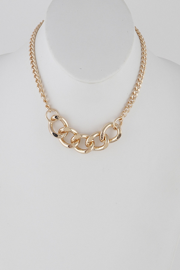 Front Wide Chain Choker Necklace - orangeshine.com