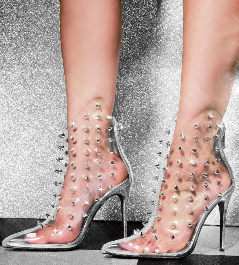 SPIKE STUDDED POINTY STILETTO BOOTS - orangeshine.com