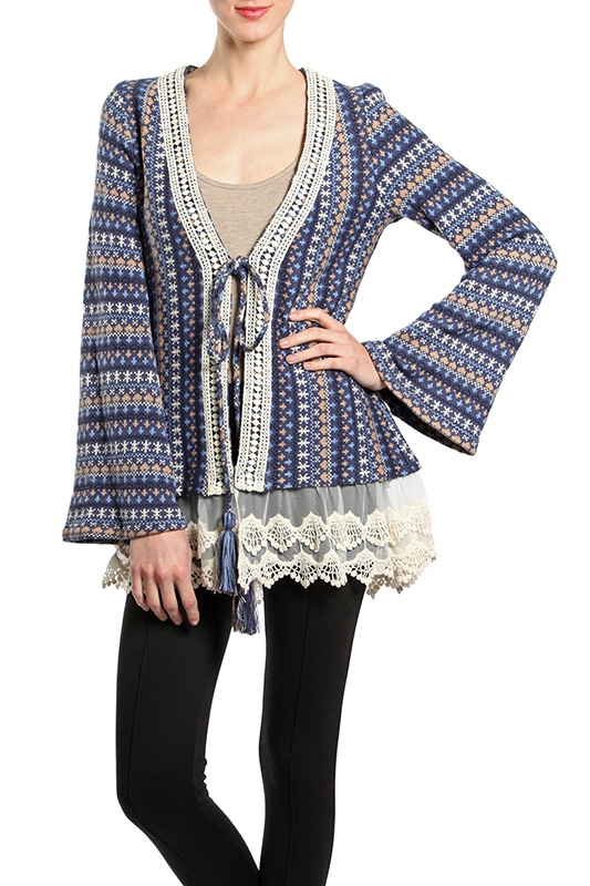 RJ4965 TRIBED PRINTED JACKET LACE - orangeshine.com
