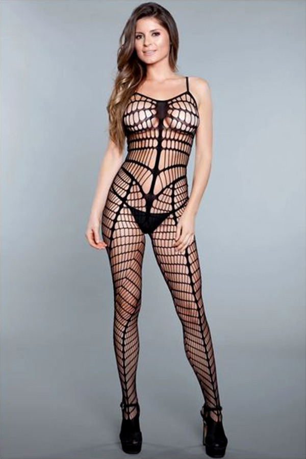Full Cutout Crotchless Bodystocking - orangeshine.com