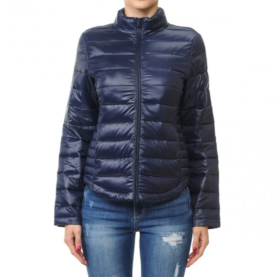 HIGH NECK LIGHTWEIGHT PUFFER JACKET - orangeshine.com
