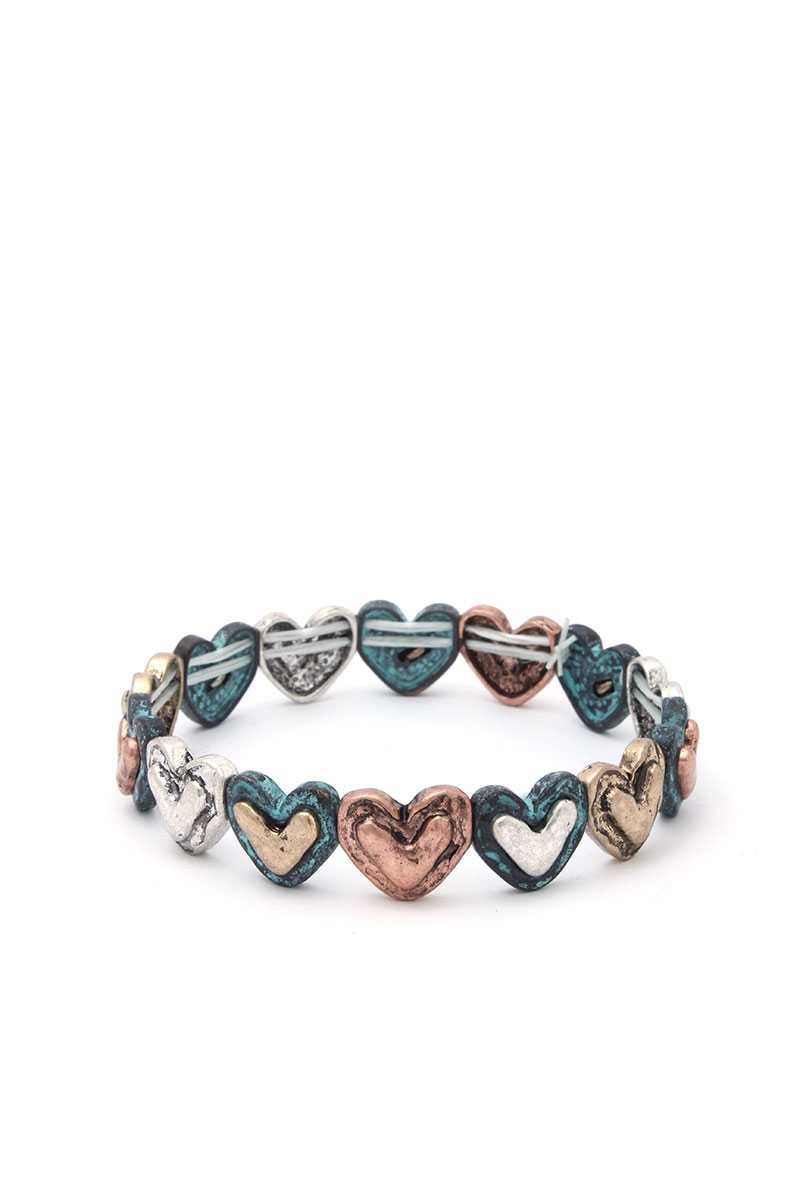 HEART SHAPE STRETCH BRACELET - orangeshine.com