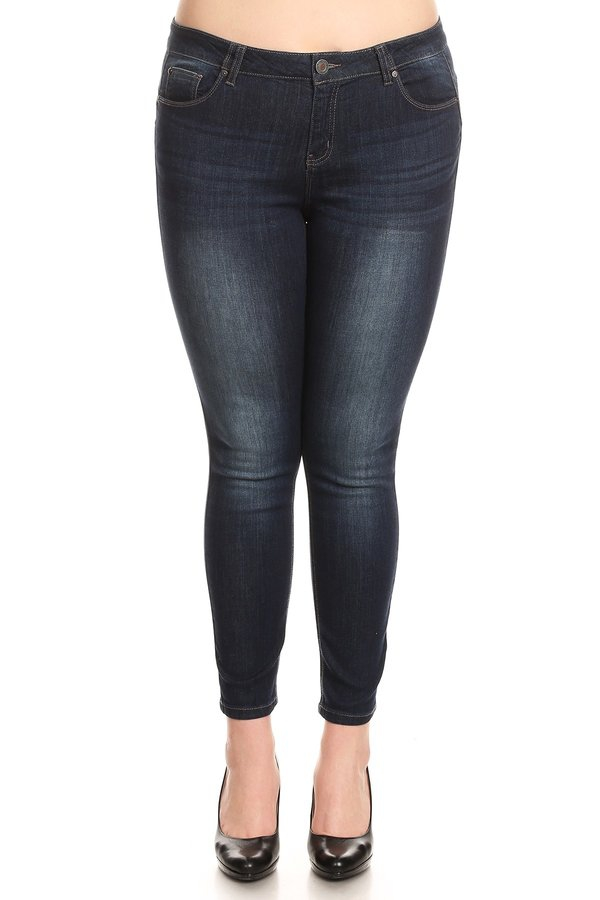 Plus Size Classic High Rise Skinny - orangeshine.com