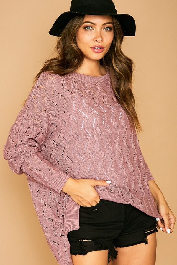 Crochet Sweater Top - orangeshine.com