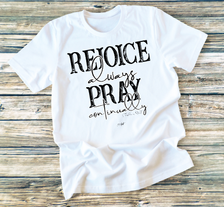 GRAPHIC TEE - Rejoice Always - orangeshine.com