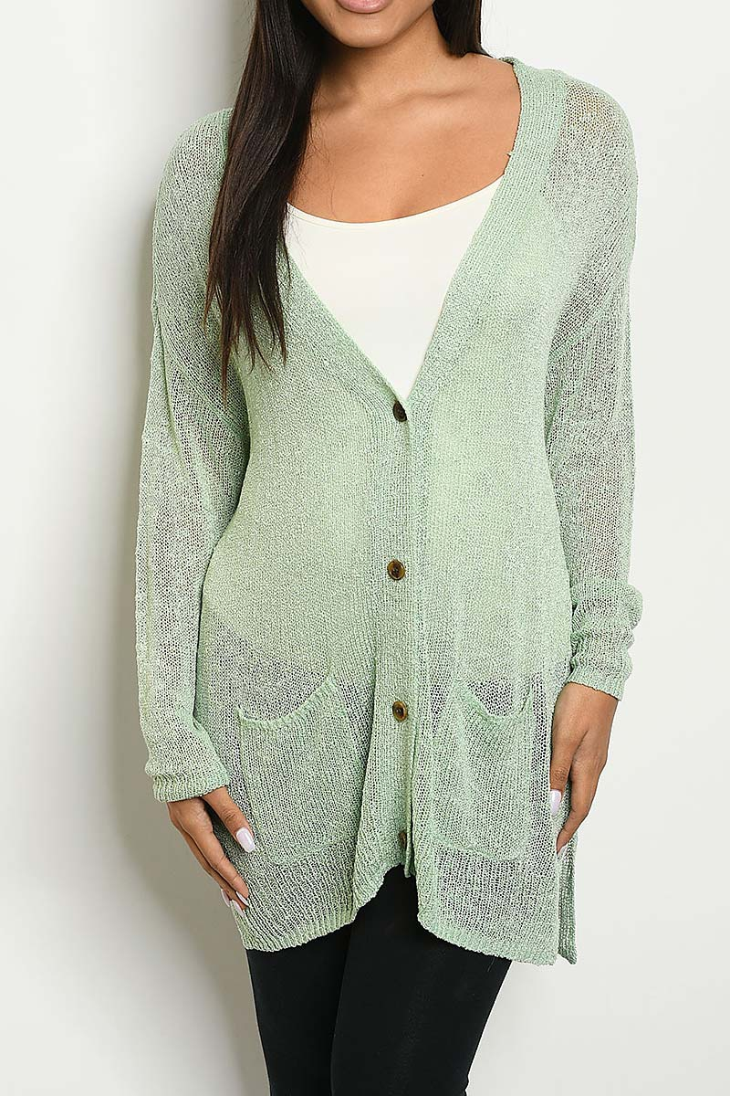 BUTTON FRONT LOOSE FIT CARDIGAN  - orangeshine.com
