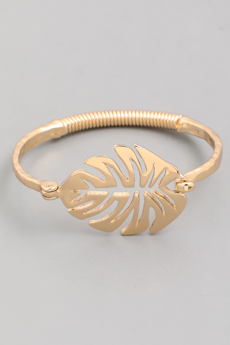 Monstera Leaf Bangle Bracelet - orangeshine.com