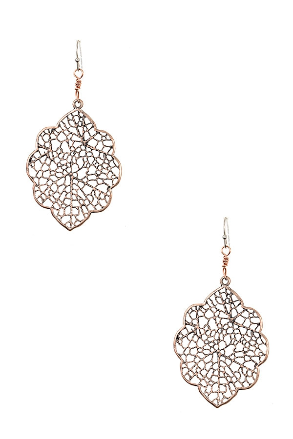FILIGREE DANGLE EARRING - orangeshine.com